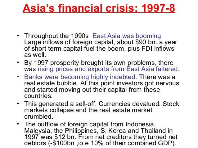 What were the causes of the Asian financial crisis of the 1980s?
