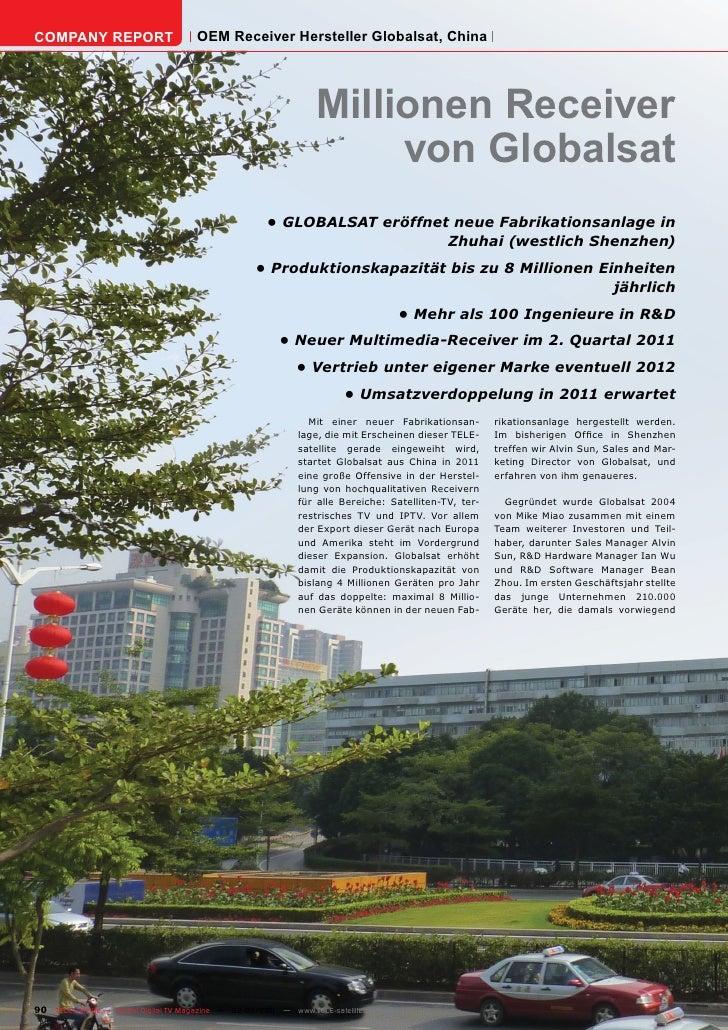 COMPANY REPORT                         OEM Receiver Hersteller Globalsat, China                                           ...