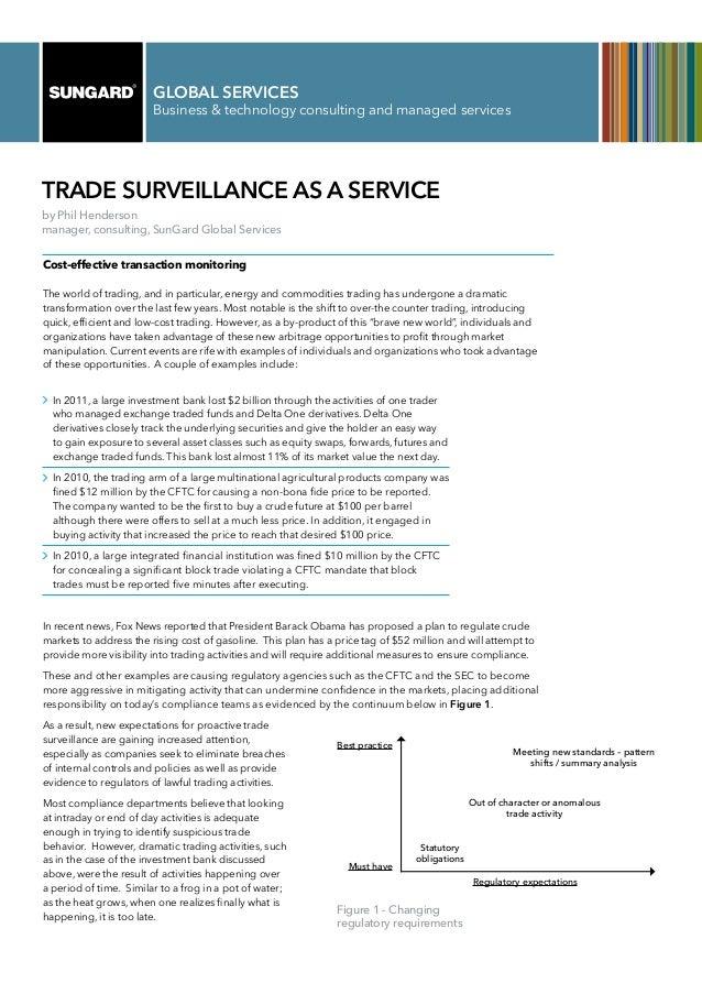 Trade Surveillance Services