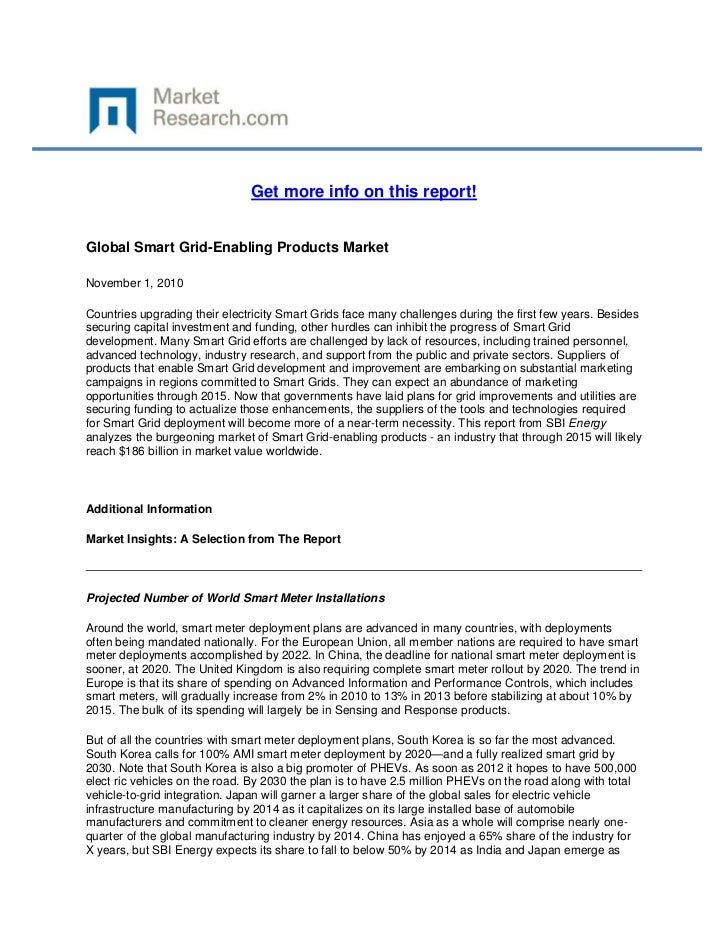 Global Smart Grid Enabling Products Market