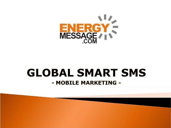 Global smart sms | mobile marketing