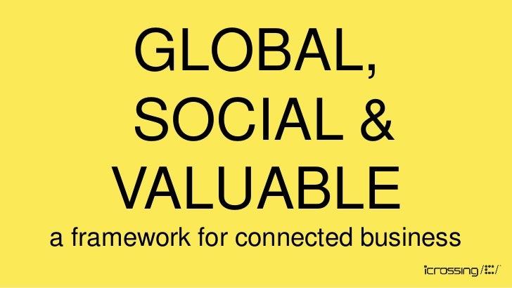 GLOBAL,     SOCIAL &    VALUABLEa framework for connected business
