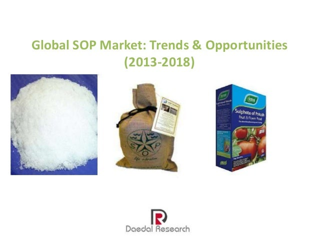 Global SOP Market: Trends & Opportunities (2013-2018)