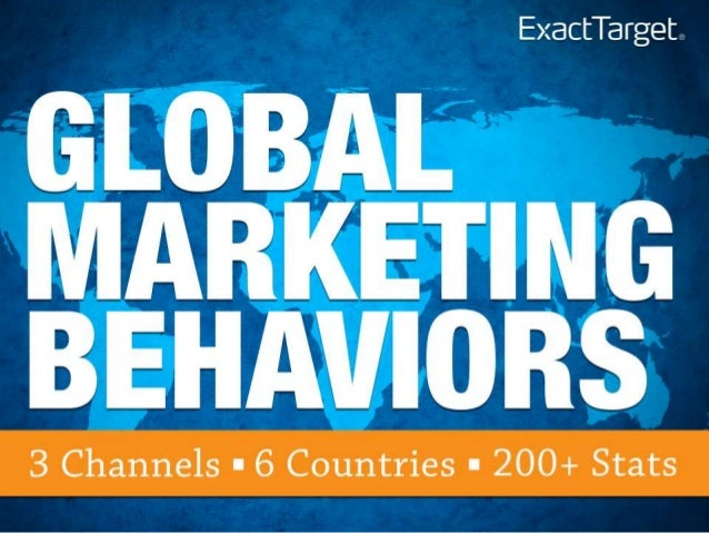Global Marketing Behaviors - 6 Countries and 200 Stats