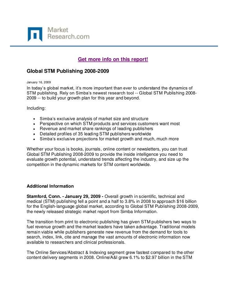 Global STM Publishing 2008-2009