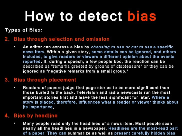 Essay On Media Bias