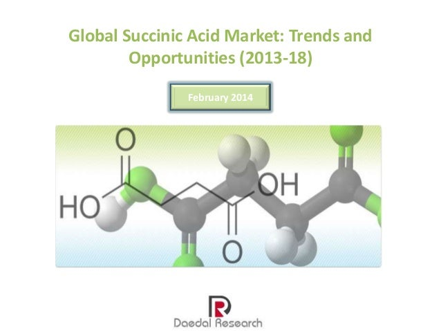 Global Succinic Acid Market: Trends and Opportunities (2013-18) February 2014