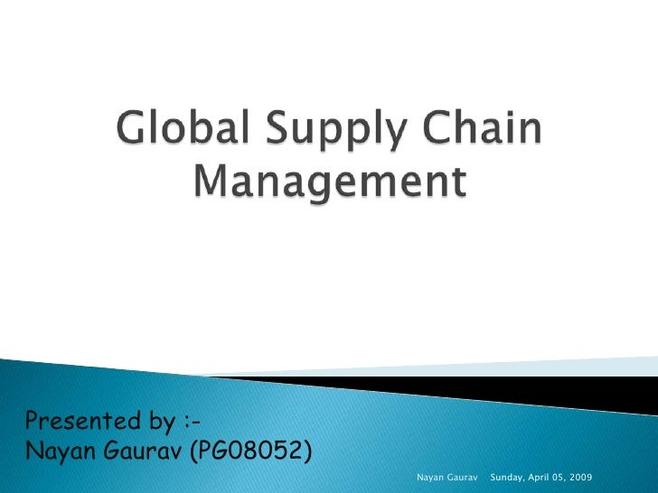 global supply chain management..