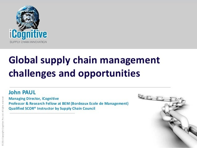Global supply chain management iCognitive