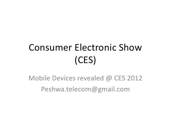 Global telecom devices 2012