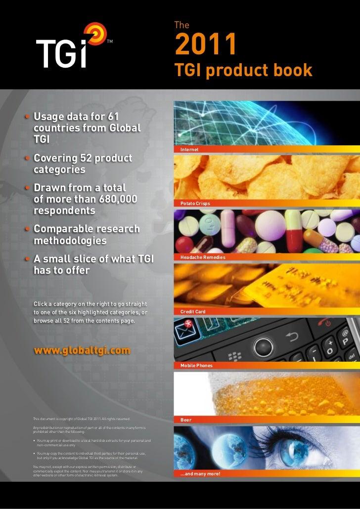 Global Tgi Productbook 2011