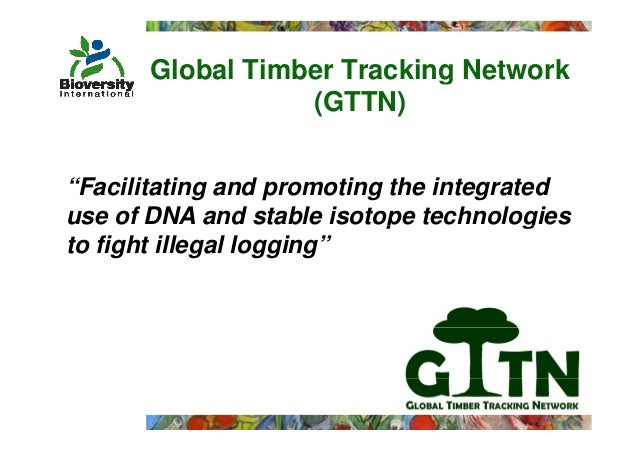"""Global Timber Tracking Network                  (GTTN)""""Facilitating and promoting the integrateduse of DNA and stable isot..."""