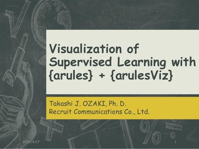 Visualization of Supervised Learning with {arules} + {arulesViz} Takashi J. OZAKI, Ph. D. Recruit Communications Co., Ltd....