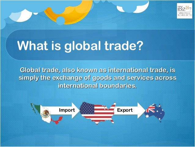 international trade 1 What is international trade international trade theories are simply different theories to explain international trade trade is the concept of exchanging goods and services between two people or entities.