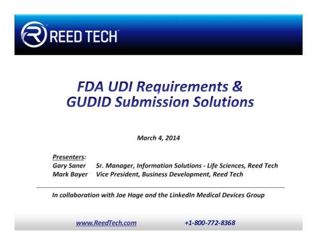 Global unique device identification database (gudid) and udi