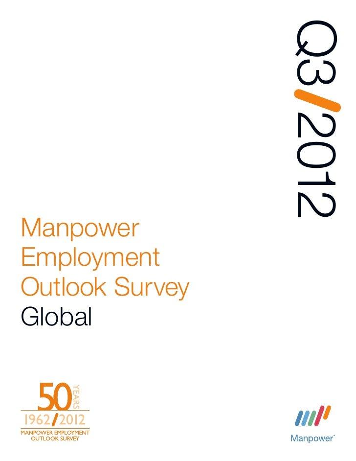 Q3 2012ManpowerEmploymentOutlook SurveyGlobal