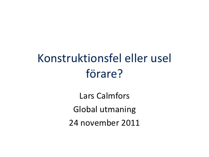 Lars Calmfors - Global Utmaning - EMU-kris