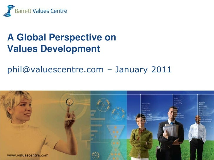 A Global Perspective on Values Developmentphil@valuescentre.com – January 2011<br />