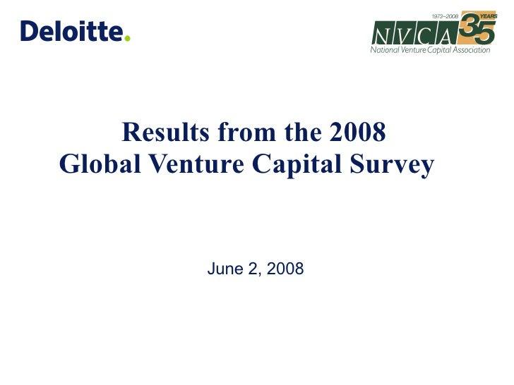 Global Vc Survey