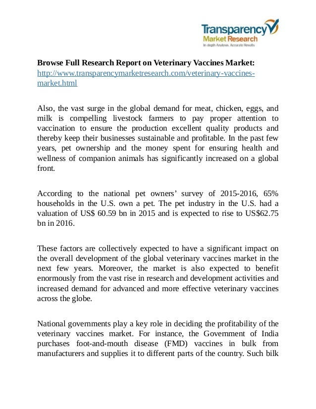 jsb market research veterinary vaccines and Jinyu bio-technology co will open a vaccine research lab and office and partner with kansas state university, the city of manhattan and the state of kansas to develop new animal health products topics and questions covered in the veterinary healthcare market.