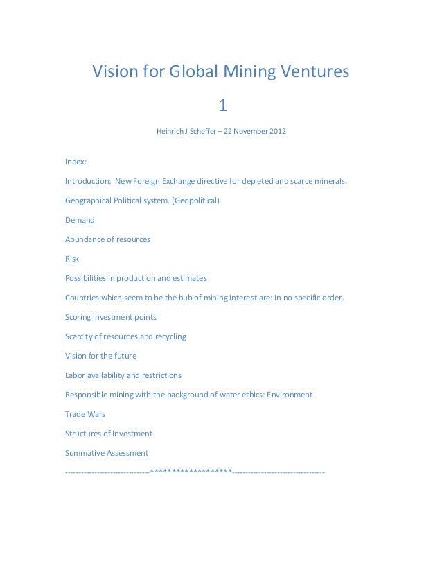Vision for Global Mining Ventures                                                  1                              Heinrich...
