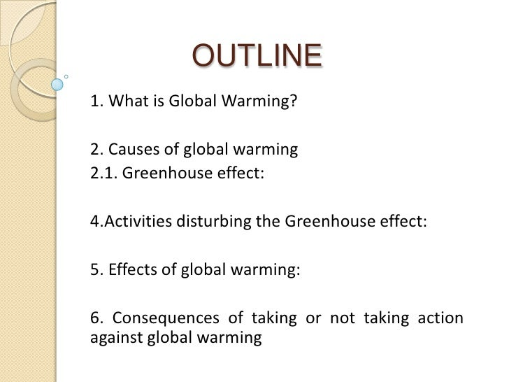 Solution of global warming essay