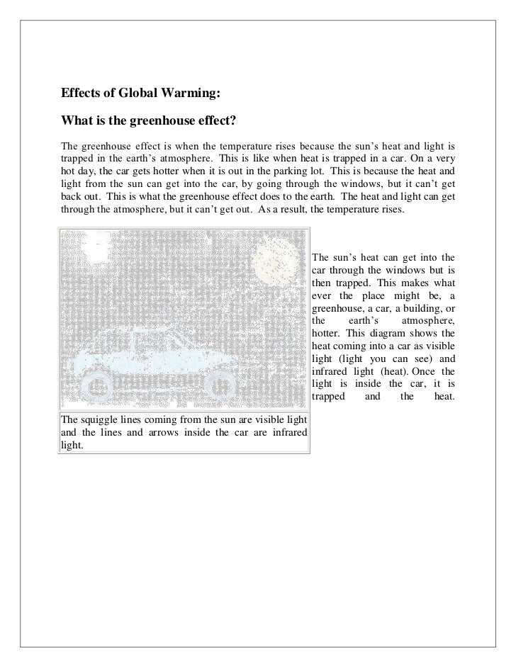 Report writing service on global warming project
