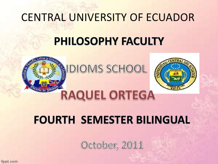 CENTRAL UNIVERSITY OF ECUADOR