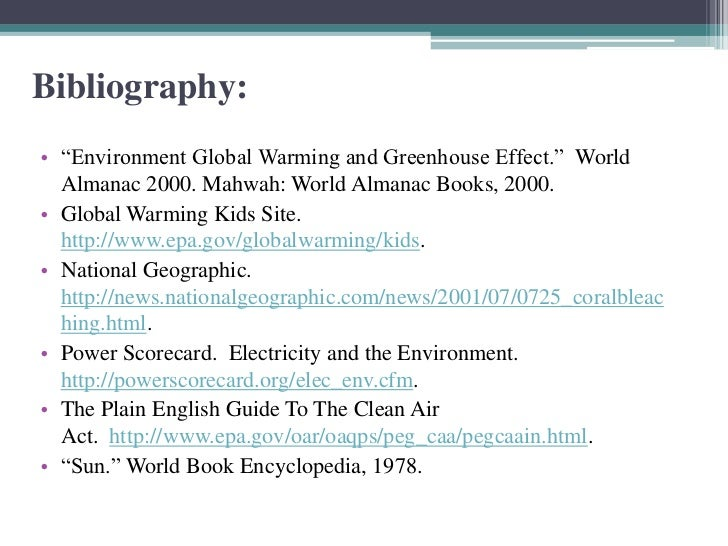 How you write a bibliography