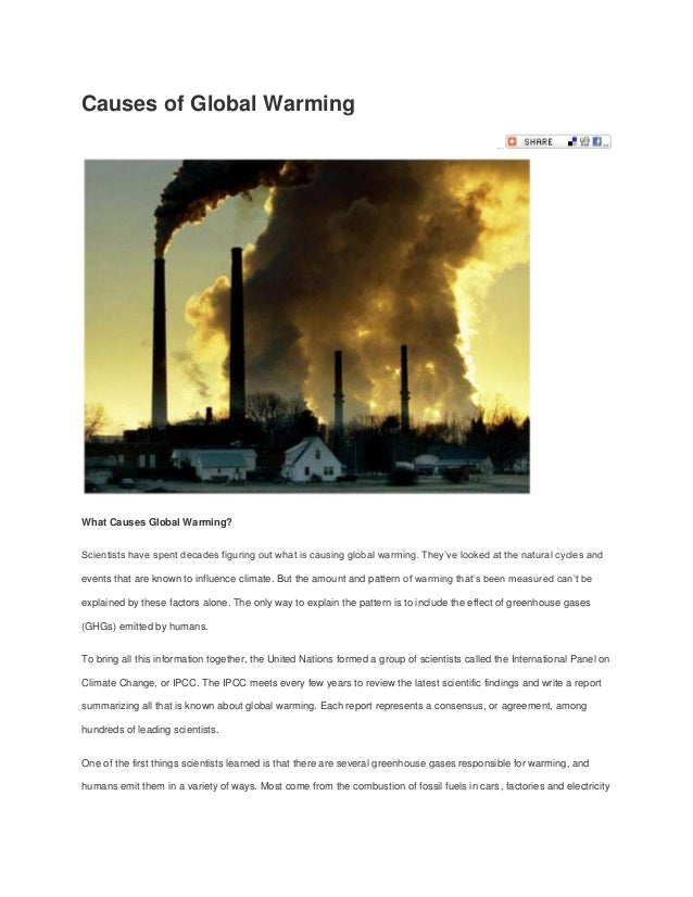 Causes of Global Warming                                                                                               Mai...