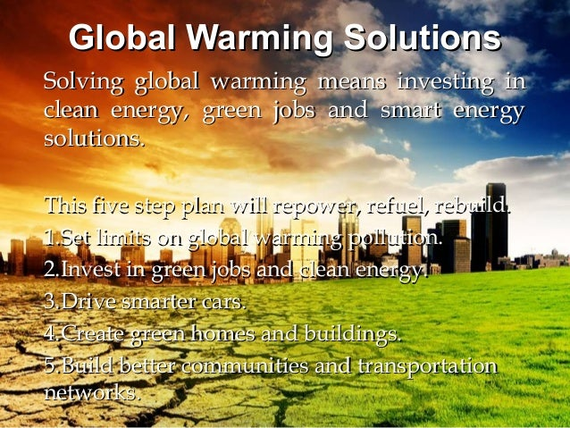 solution to global warming essay