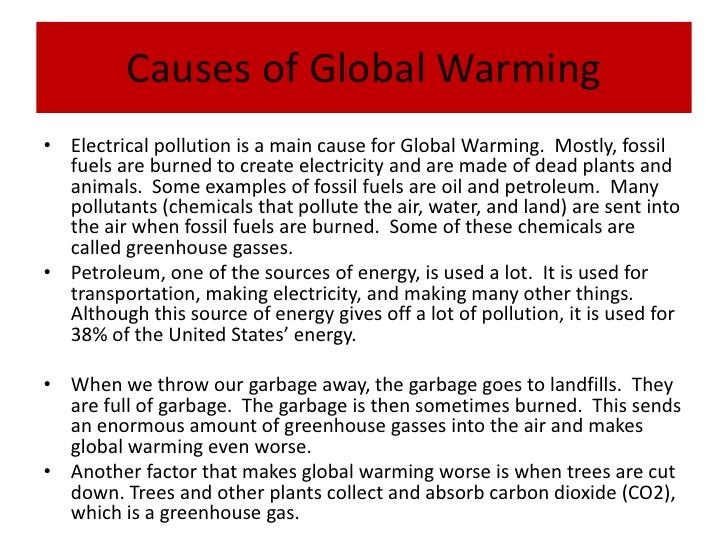 Freshman Seminar 179 (1998)- Global Warming