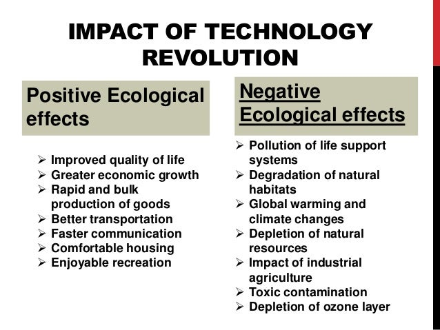 the impact of technology on the quality of life There are some negative effects of technology on our lives and society that need to be cured, to make this world a better place below are the negative effects.