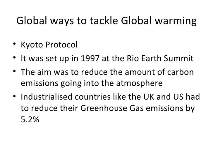 Global Ways To Tackle Global Warming