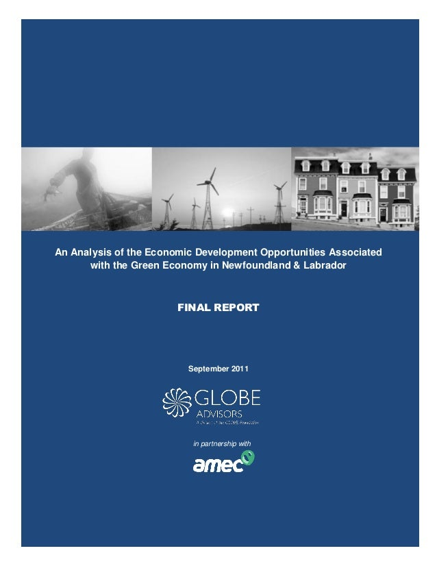 GLOBE Advisors - Analysis of the Economic Development Opportunities Associated with the Green Economy in Newfoundland & Labrador