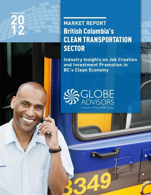 GLOBE Advisors - British Columbia's Clean Transportation Sector Market Report