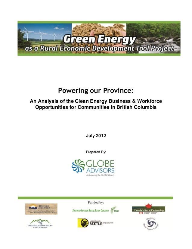 GLOBE Advisors - Clean Energy Business & Workforce Opportunities Report