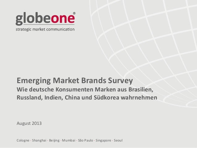 globeone Emerging Markets Brand Survey - German Version
