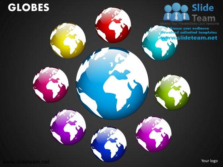Globes powerpoint presentation templates.
