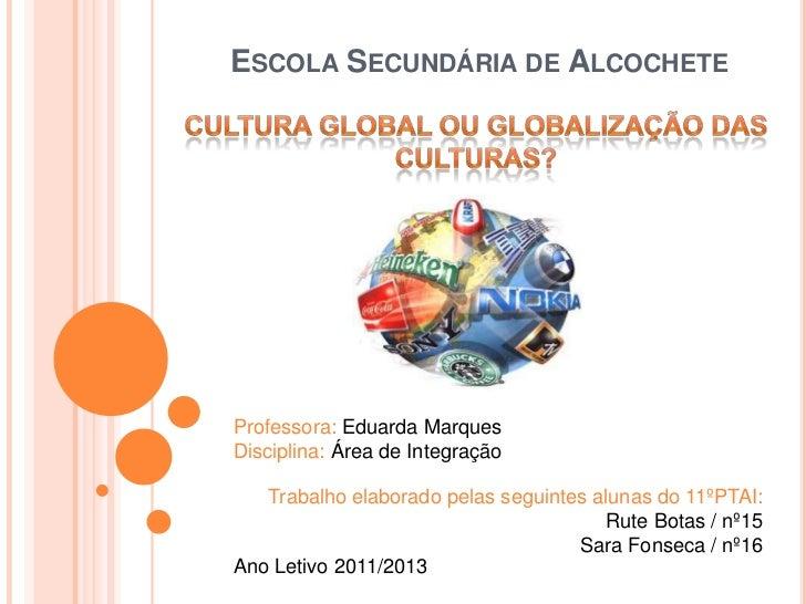 ESCOLA SECUNDÁRIA DE ALCOCHETEProfessora: Eduarda MarquesDisciplina: Área de Integração   Trabalho elaborado pelas seguint...