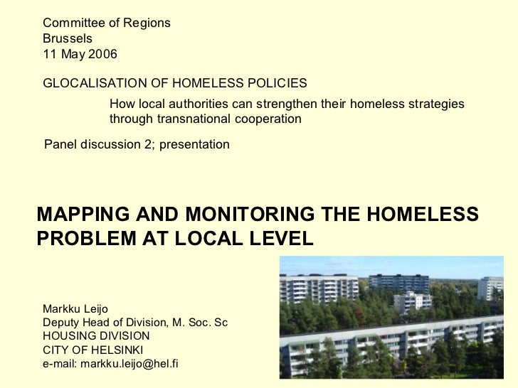 Committee of RegionsBrussels11 May 2006GLOCALISATION OF HOMELESS POLICIES            How local authorities can strengthen ...