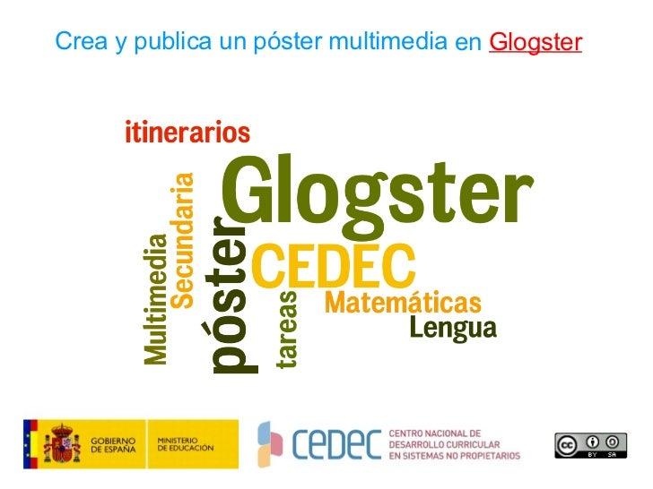 Crea y publica un póster multimedia en  Glogster