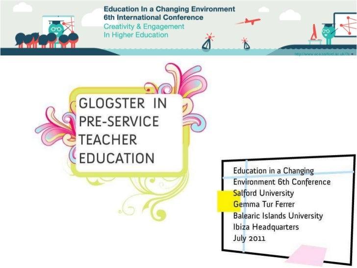 Glogster in pre-service teacher education