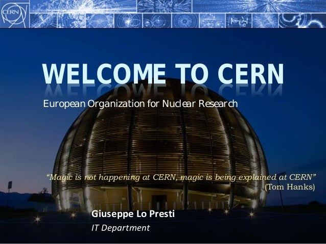 Visit at CERN