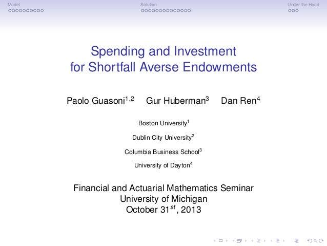 Spending and Investment for Shortfall-Averse Endowments