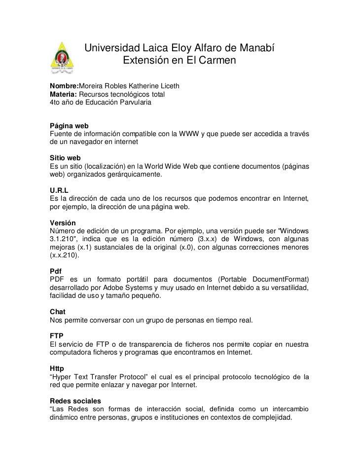 120655299Universidad Laica Eloy Alfaro de Manabí<br />Extensión en El Carmen<br />Nombre: Moreira Robles Katherine Liceth ...