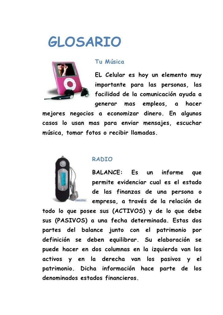 GLOSARIO        <br />647702540000Tu Música<br />EL Celular es hoy un elemento muy importante para las personas, las faci...