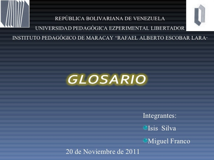 Glosario Base de DATOS