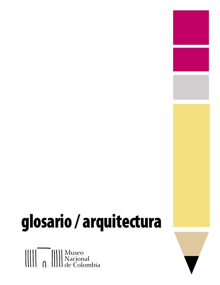 glosario / arquitectura