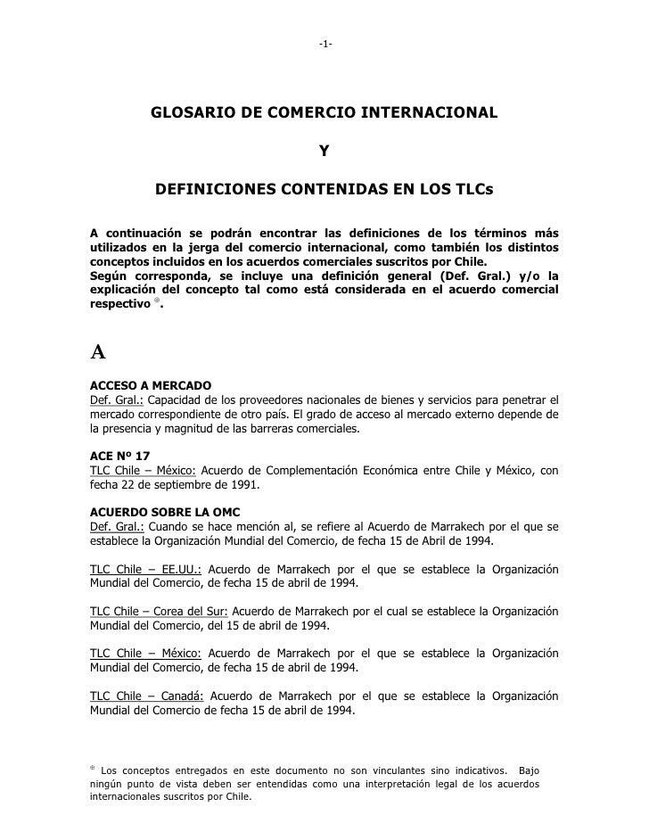 -1-                GLOSARIO DE COMERCIO INTERNACIONAL                                              Y              DEFINICI...
